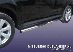 MITSUBISHI OUTLANDER XL (2010)-Пороги d76 с проступями